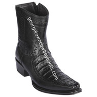 Men's Los Altos Caiman Belly And Deer Boots European Square Toe Handcrafted 76BF8205