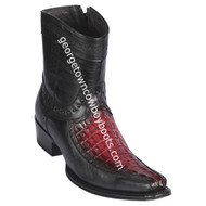 Men's Los Altos Caiman Tail And Deer Boots European Square Toe Handcrafted 76BF0143
