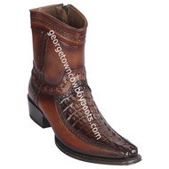 Men's Los Altos Caiman Tail And Deer Boots European Square Toe Handcrafted 76BF0116