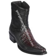 Men's Los Altos Caiman Tail And Deer Boots European Square Toe Handcrafted 76BF0118