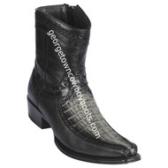 Men's Los Altos Caiman Tail And Deer Boots European Square Toe Handcrafted 76BF0138