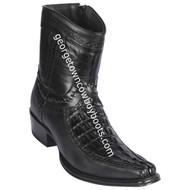 Men's Los Altos Caiman Tail And Deer Boots European Square Toe Handcrafted 76BF0105
