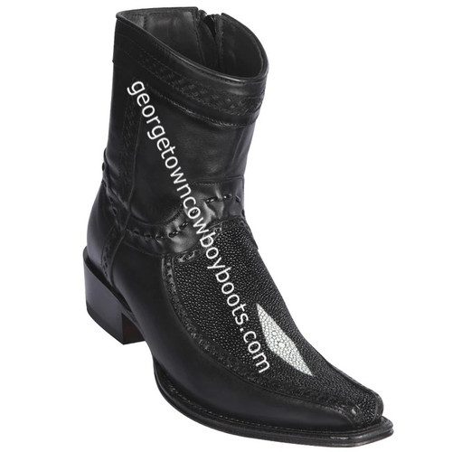 Men's Los Altos Single Stone Stingray And Deer Boots European Square Toe Handcrafted 76BF1205
