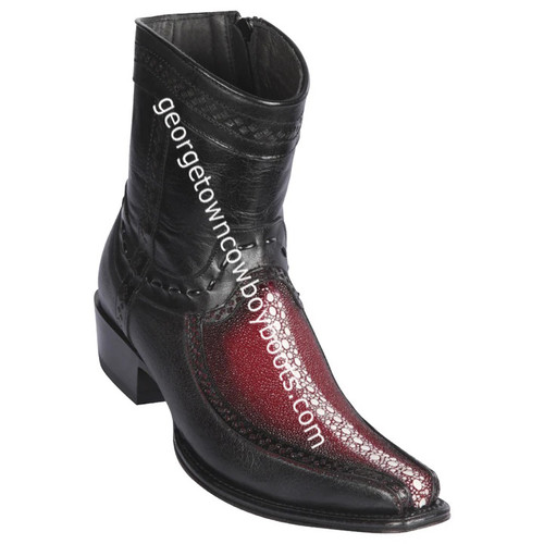Men's Los Altos Rowstone Stingray And Deer Boots European Square Toe Handcrafted 76BF1143