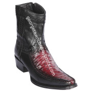 Men's Los Altos Ostrich And Deer Boots European Square Toe Handcrafted 76BF0343