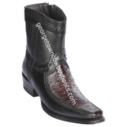 Men's Los Altos Ostrich And Deer Boots European Square Toe Handcrafted 76BF0318