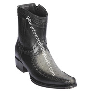 Men's Los Altos Ostrich And Deer Boots European Square Toe Handcrafted 76BF0338