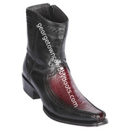 Men's Los Altos Ostrich Leg And Deer Boots European Square Toe Handcrafted 76BF0543