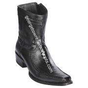 Men's Los Altos Ostrich Leg And Deer Boots European Square Toe Handcrafted 76BF0505