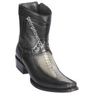 Men's Los Altos Ostrich Leg And Deer Boots European Square Toe Handcrafted 76BF0538