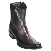 Men's Los Altos Ostrich Leg And Deer Boots European Square Toe Handcrafted 76BF0518