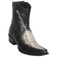 Men's Los Altos Python And Deer Boots European Square Toe Handcrafted 76BF5749