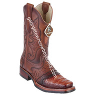 Men's King Exotic Caiman Belly Boots With Saddle Vamp Handmade 48118203
