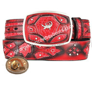 King Exotic Caiman Belly Western Fashion Belt Handcrafted 4C11F8229