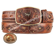 King Exotic Caiman Belly Western Fashion Belt Handcrafted 4C11F8216