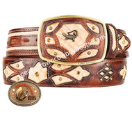 King Exotic Caiman Belly Western Fashion Belt Handcrafted 4C11F8215