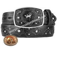King Exotic Caiman Belly Western Fashion Belt Handcrafted 4C11F8205