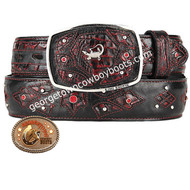 King Exotic Caiman Belly Western Fashion Belt Handcrafted 4C11F8218