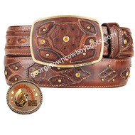 King Exotic Ostrich Western Fashion Belt Handcrafted 4C11F0316