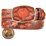 King Exotic Ostrich Western Fashion Belt Handcrafted 4C11F0357
