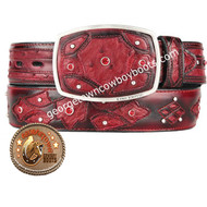 King Exotic Ostrich Western Fashion Belt Handcrafted 4C11F0343