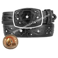 King Exotic Ostrich Western Fashion Belt Handcrafted 4C11F0305
