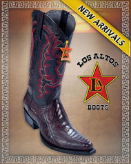 Ostrich Leg,Snip Toe, Black Cherry Western Boots, Los Altos Boots Style 940518