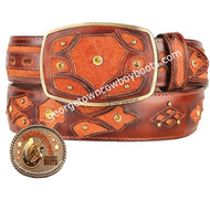 King Exotic Elephant Western Fashion Belt Handcrafted 4C11F7003