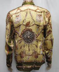 Vintage 90's Deadstock Baroque Sword Silk Shirt