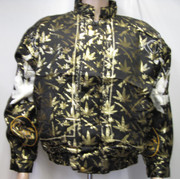 Silk Bomber Jacket Durango Black and Gold,Silk