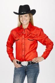 Women's Retro Western Shirt Red