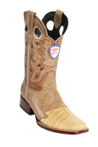 Wild West Square Toe Caiman Beige Boots Style;2828211