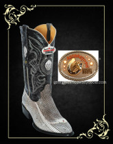 Cobra Snake Head Western Boots Natural Color 996449