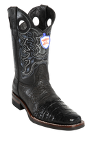 Wild Rodeo Square Toe Caiman Boots Black Caiman w/Rubber Soles Style:282H8205