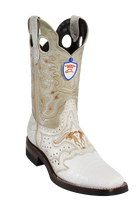 Wild Rodeo Square Toe Caiman Boots White Caiman w/Rubber Soles Style:282H8228