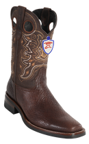 Wild Rodeo Toe Shark Boots Brown Shark with Rubber Soles Style:282CH9303