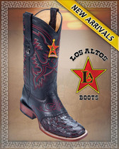 Black Cherry Ostrich Los Altos Boots Style:8210318