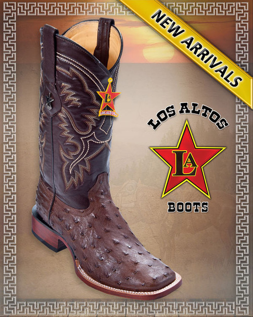 OSTRICH WESTERN BOOTS COLOR: BROWN STYLE: 8220307 SIZES: 6 to 13 U.S.A RODEO BOOT