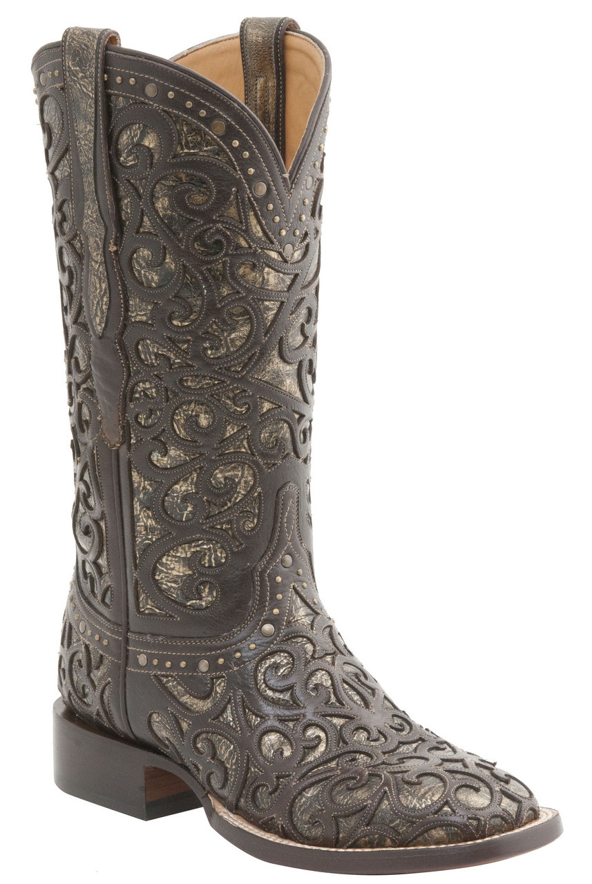 269b42d8682 Womens Lucchese Since 1883 Western Espresso And Bronze M4843