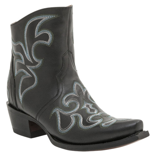 Lucchese Since 1883 Womens Western Harper Black Burnished Cowhide Leather M4902