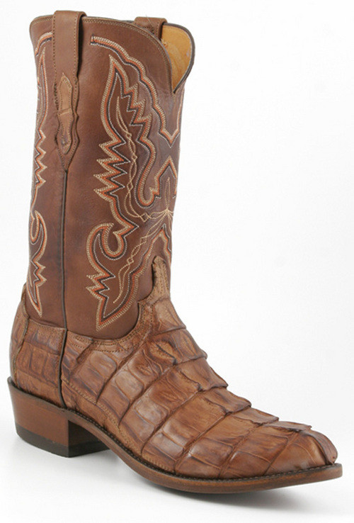 Lucchese Heritage Mens Barnwood Caiman Giant Tail Crocodile Cowboy Boots N1107