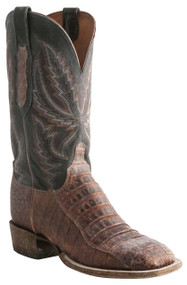 Lucchese Heritage Mens Stonewash Rust Caiman Belly Tail Cut Leather Boots C7959 CL7959