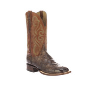 Roy Lucchese Giant Gator Boots CL1072 Chocolate and Cognac CL1072