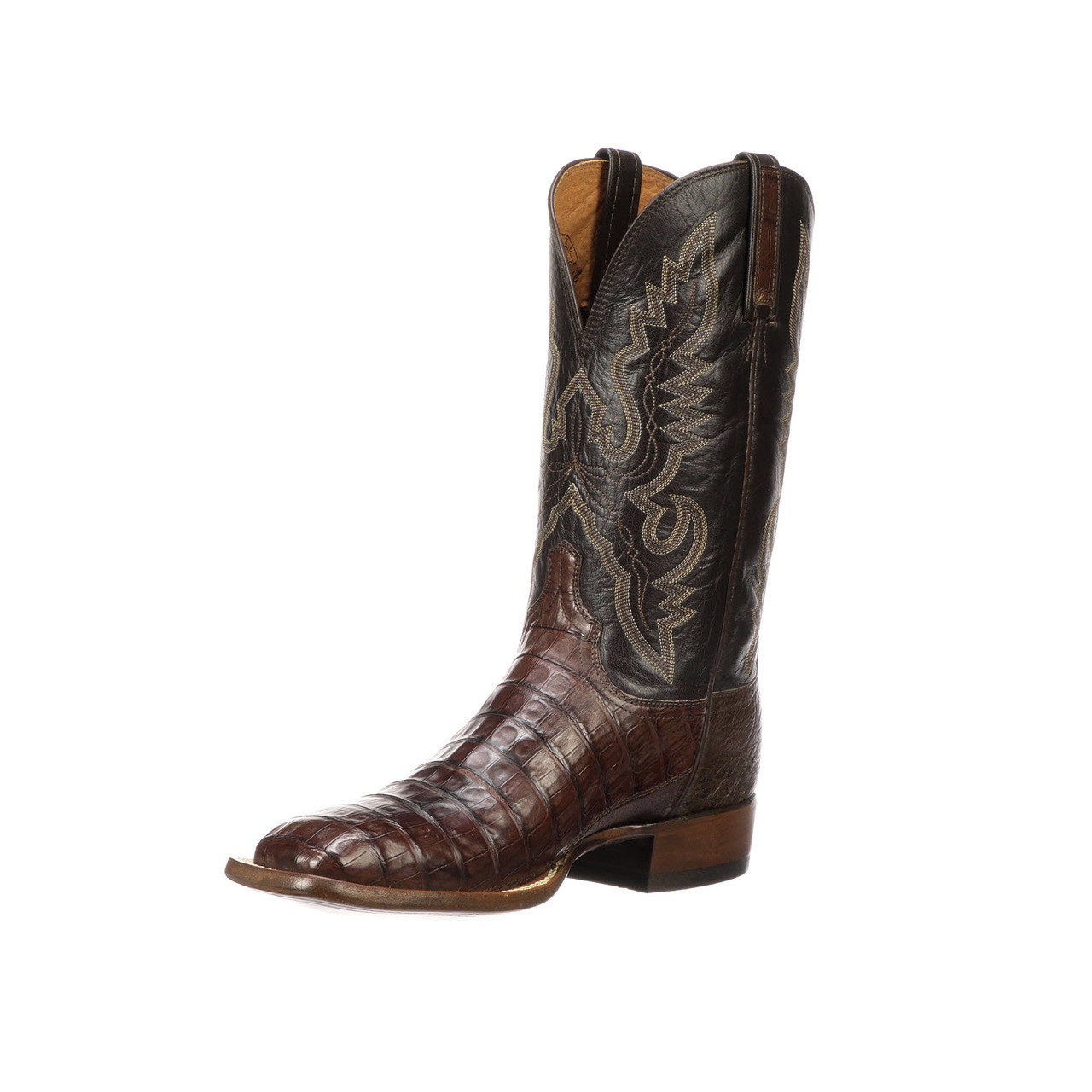 5d2c1887f0e Lucchese Heritage Mens Barrel Brown Ultra Belly Tail Cut Caiman CL1006 Trent