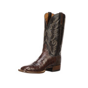 Lucchese Heritage Mens Barrel Brown Ultra Belly Tail Cut Caiman Boots CL1006