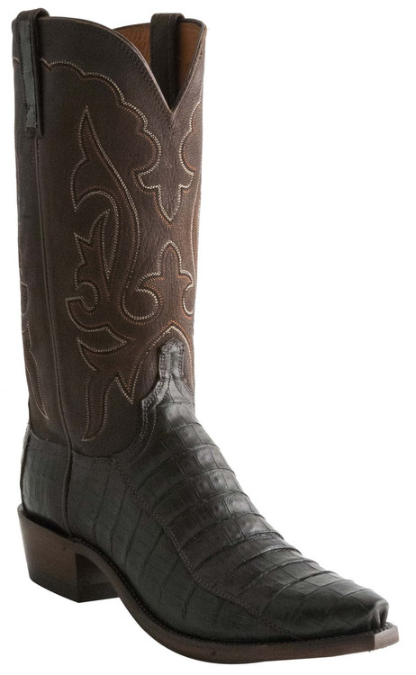 Lucchese Heritage Mens Chocolate Ultra Caiman Belly Cowboy