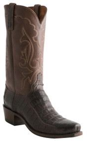 Lucchese Heritage Mens Barrel Brown Ultra Caiman Belly Cowboy Boots N9585