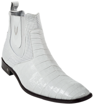 White Caiman Dress Short Boot. Vestigium 7BV018228