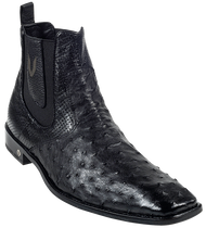 Vestigium Black Full Quill Ostrich Dress Boot. 7BV010305