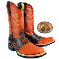 Elephant Western Mens Boots Square Toe. King Exotic